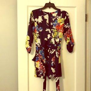 Yumi Kim Floral Navy Romper Size XS